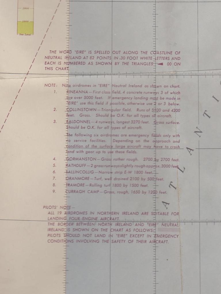 USAAF Chart Ireland 1